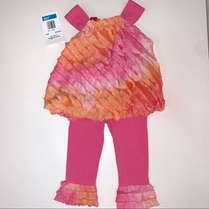 Rare Editions Toddler Girl Two Piece Set Size 24M